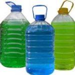 Незамерзайка в 5-и литровой ПЭТ бутылке.
